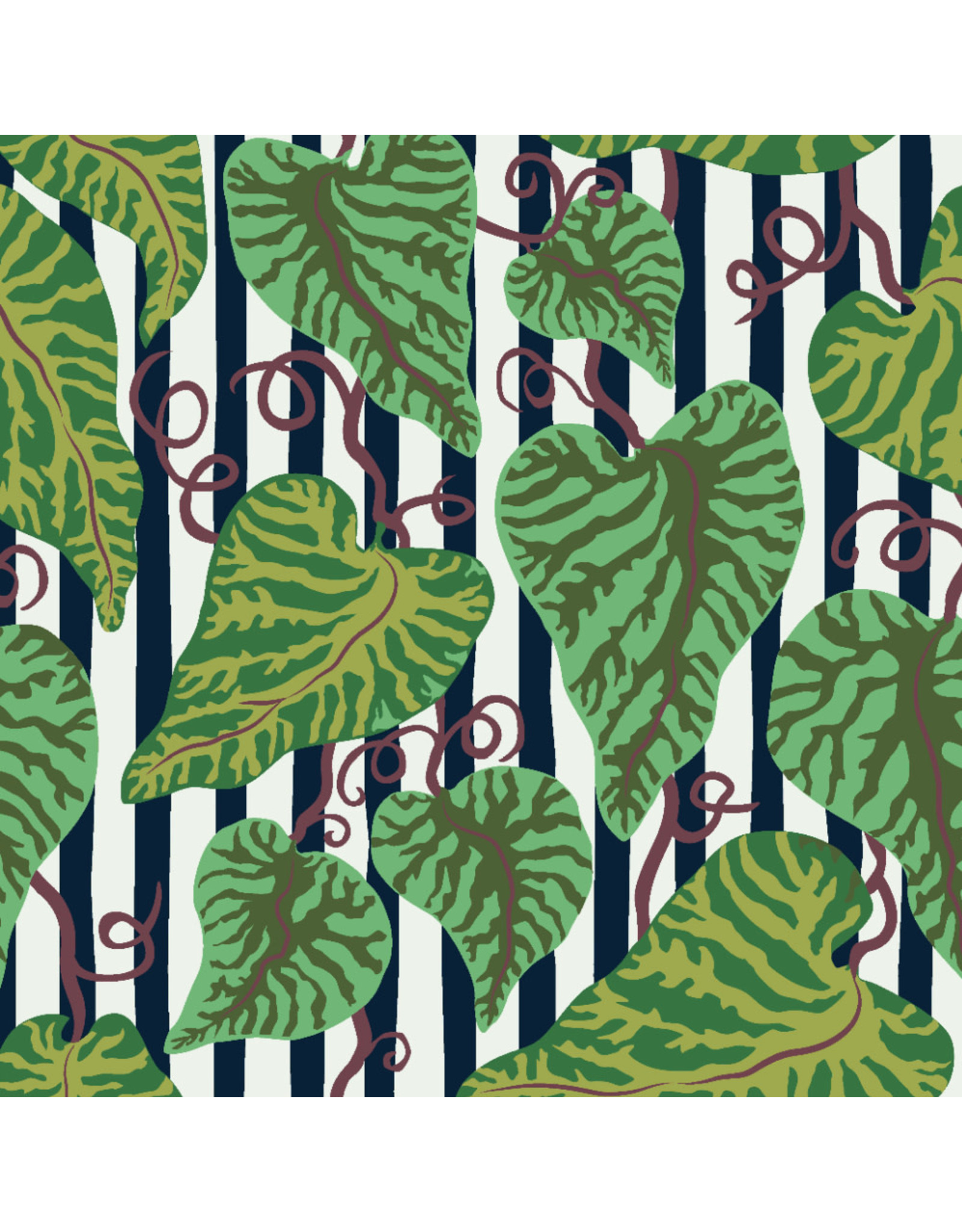 Kathy Doughty Earth Made Paradise, Tropical Leaf in Cool, Fabric Half-Yards