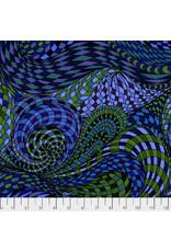 Adrienne Leban BioGeo-1, Blue Algae in Blue, Fabric Half-Yards