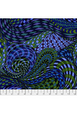 PD's Adrienne Leban Collection BioGeo-1, Blue Algae in Blue, Dinner Napkin