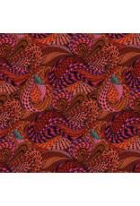 Adrienne Leban BioGeo-1, Red Rapture in Red, Fabric Half-Yards