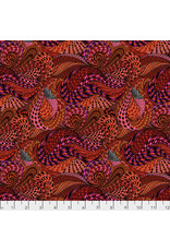 PD's Adrienne Leban Collection BioGeo-1, Red Rapture in Red, Dinner Napkin