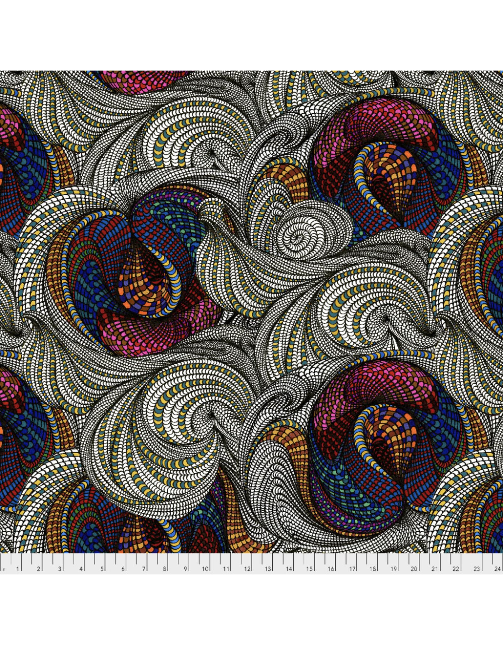 Adrienne Leban BioGeo-1, Snail Garden in Multi, Fabric Half-Yards