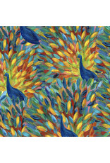Free Spirit Pizzazz, Peacock Party in Multi, Fabric Half-Yards