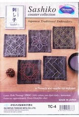 Japan Import Sashiko Coaster Collection, Navy Blue dyed cloth made of 100% Cotton.