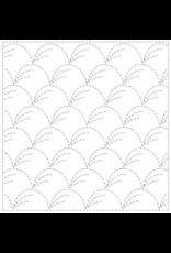 Japan Import Sashiko Sampler Cloth, Traditional Design Nowaki, White No.1