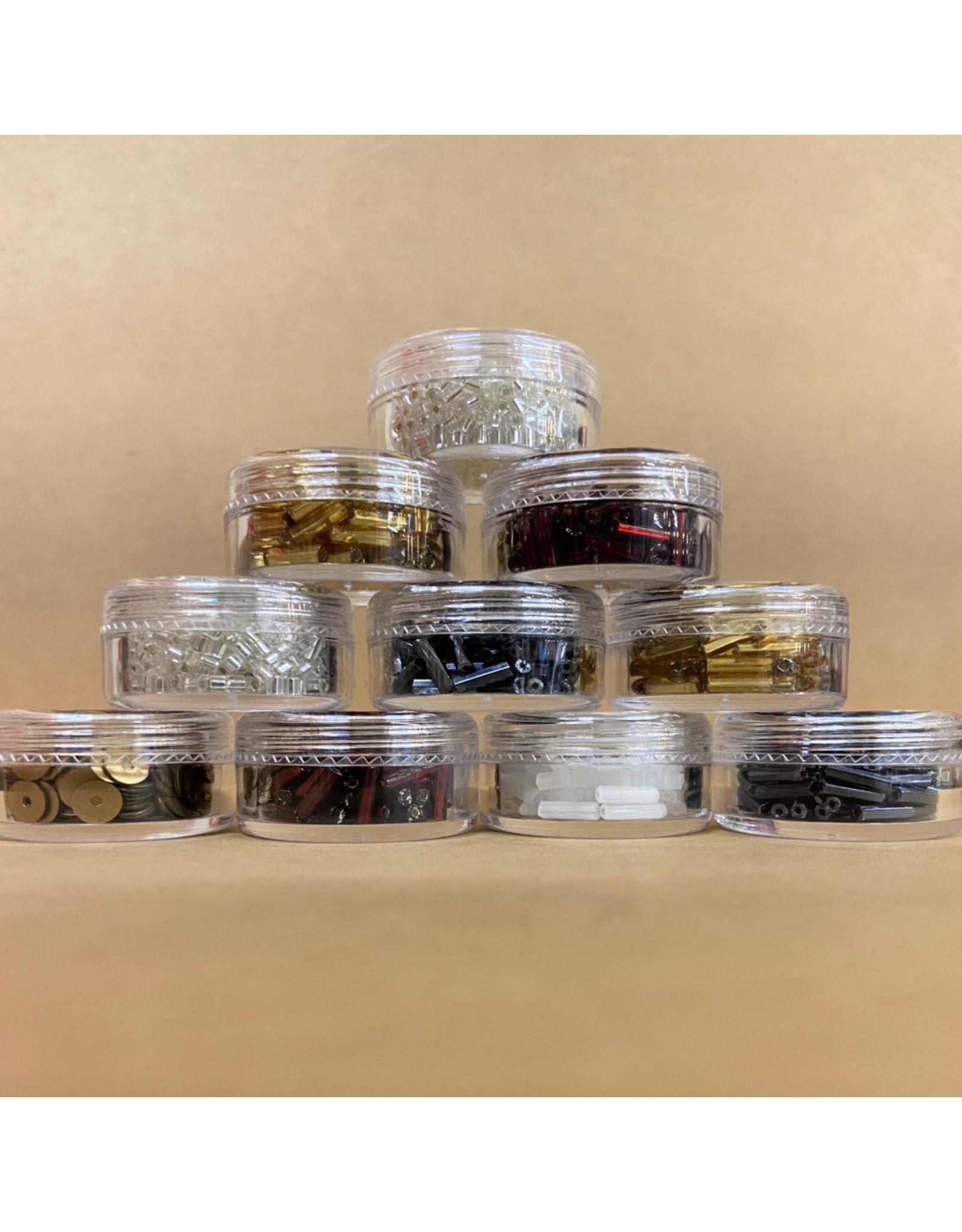 PD Glass Bugle Beads, Gold