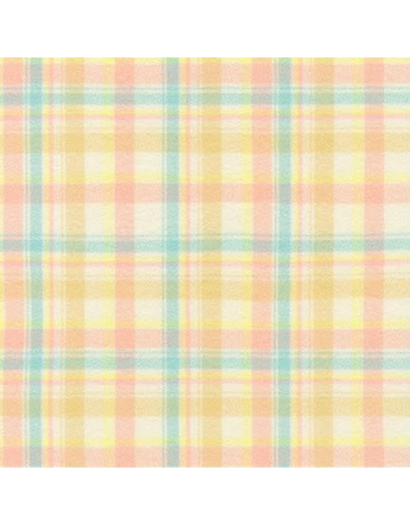 Robert Kaufman Yarn Dyed Cotton Flannel, Mammoth Junior Flannel in Pastel, Fabric Half-Yards