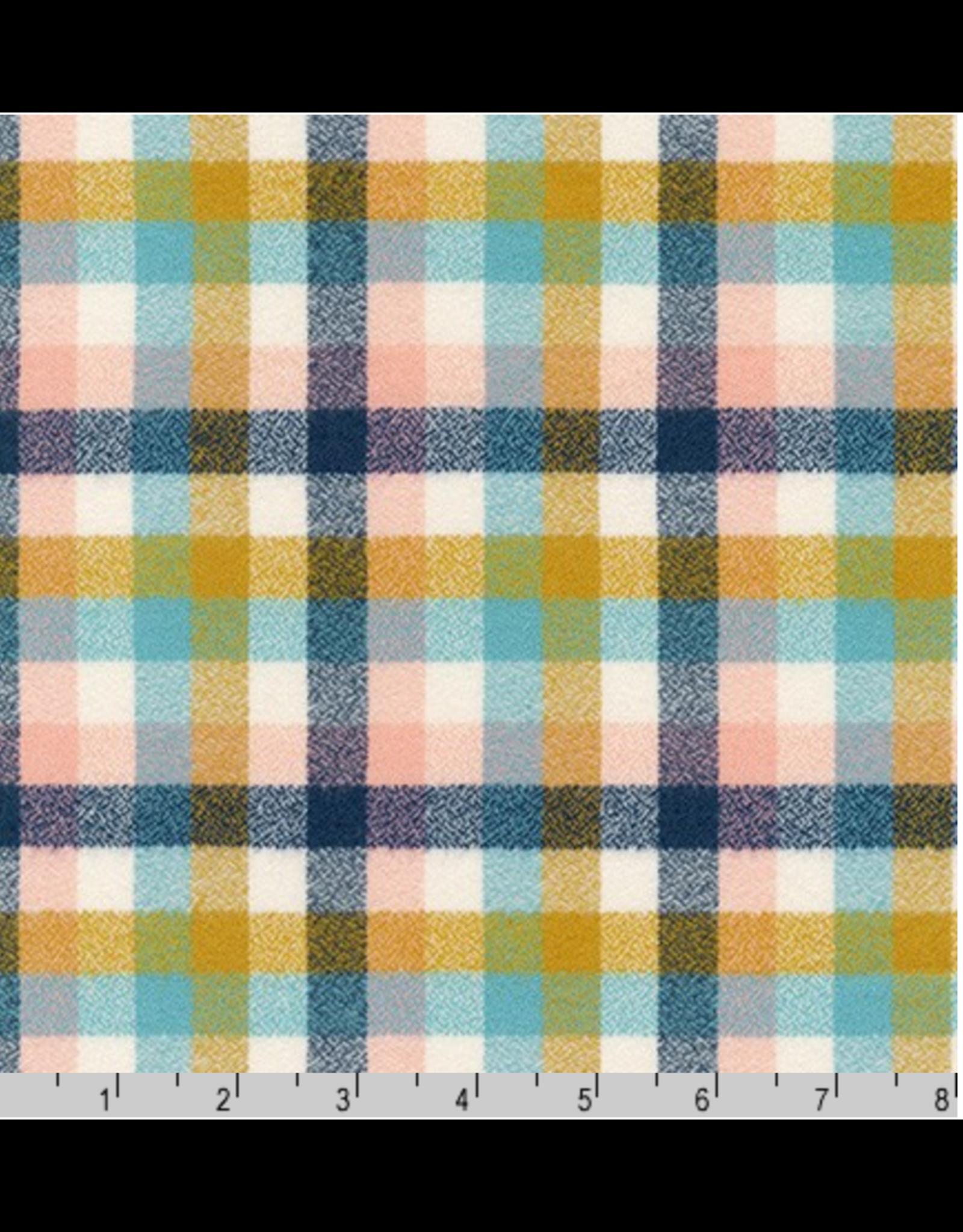 Robert Kaufman Yarn Dyed Cotton Flannel, Mammoth Junior Flannel in Summer, Fabric Half-Yards