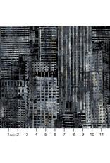 Northcott City Lights, City Scene in Black, Fabric Half-Yards