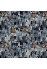 Northcott City Lights, Large Textured Blocks in Dark Gray, Fabric Half-Yards