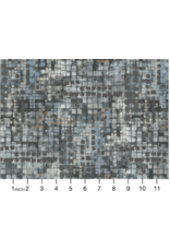 Northcott City Lights, Small Squares in Mid Gray, Fabric Half-Yards