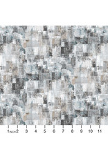 PD's Northcott Collection City Lights, Large Textured Blocks in Light Gray, Dinner Napkin