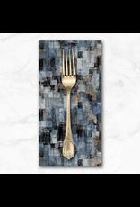 PD's Northcott Collection City Lights, Large Textured Blocks in Dark Gray, Dinner Napkin