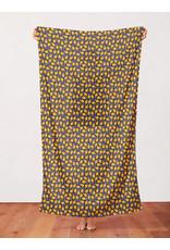 Paintbrush Studio Organic Double Gauze, Fruity, Lemons in Navy, Fabric Half-Yards