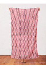 Paintbrush Studio Organic Double Gauze, Fruity, Strawberries in Light Pink and Red, Fabric Half-Yards