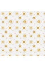 Paintbrush Studio Organic Double Gauze, Jungle Baby, Happy Suns, Fabric Half-Yards