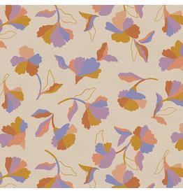 Paintbrush Studio Organic Double Gauze, Botanica, Spanish Flowers, Fabric Half-Yards