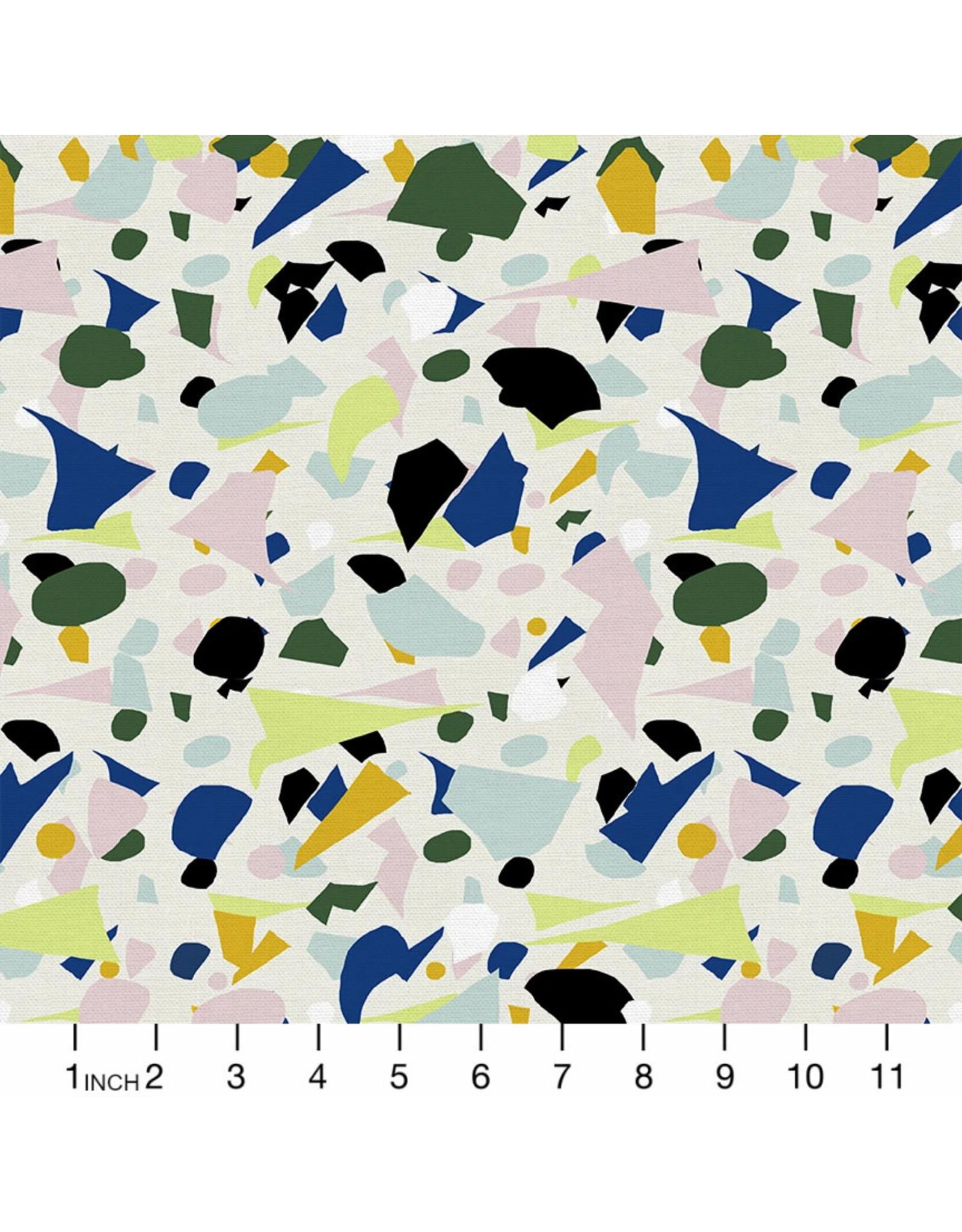 Paintbrush Studio ketchbook, Terrazzo in Multi, Fabric Half-Yards