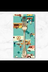 PD's Paintbrush Studio Collection Food Truck, Turquoise Trucks, Dinner Napkin