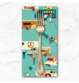 PD's Paintbrush Studio Collection Food Truck, Turquoise Trucks, Dinner Napkin