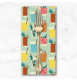 PD's Paintbrush Studio Collection Food Truck, Drinks in Light Turquoise, Dinner Napkin