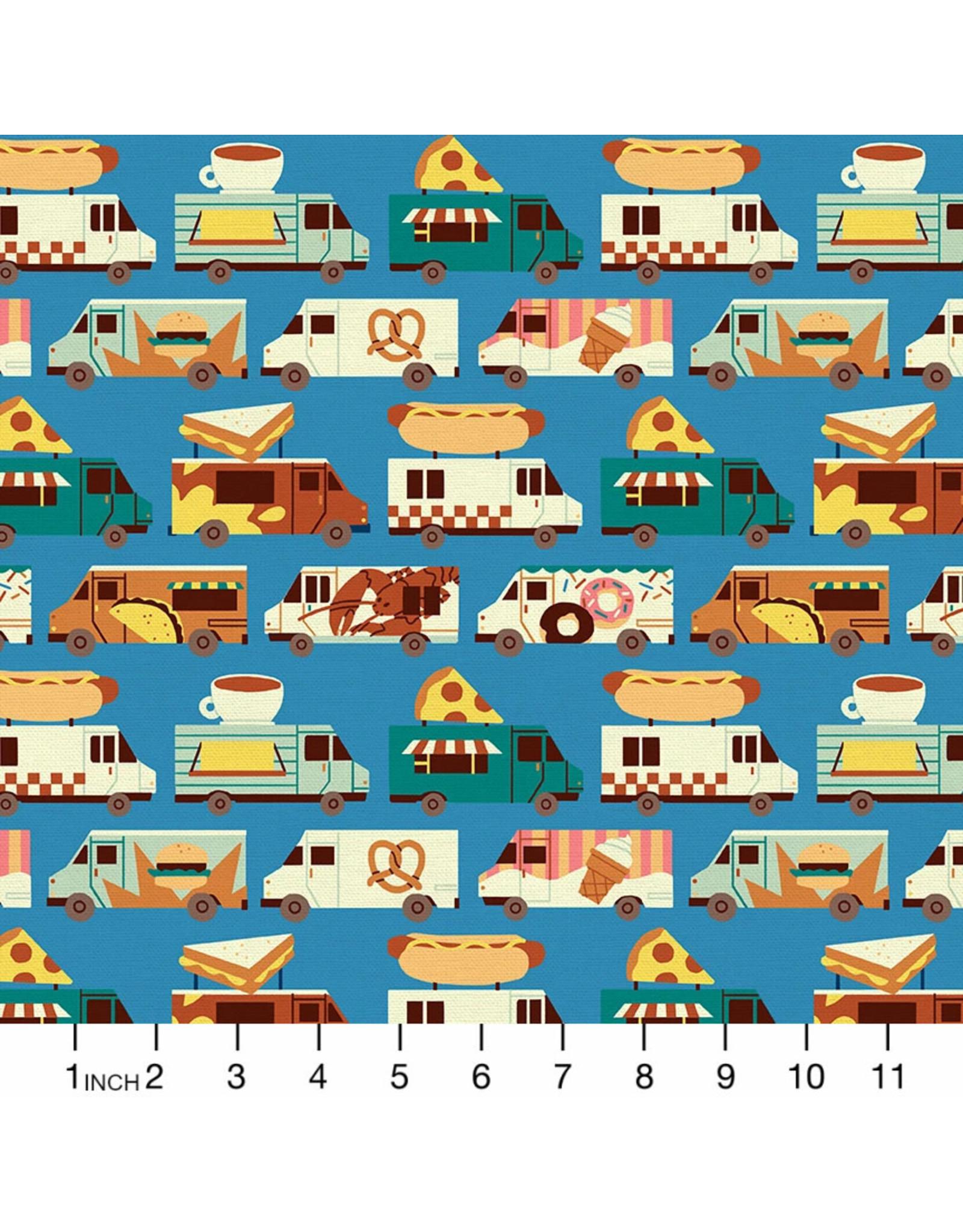 PD's Paintbrush Studio Collection Food Truck, Truck Stripe in Blue, Dinner Napkin