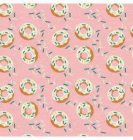 Paintbrush Studio Food Truck, Donut in Pink, Fabric Half-Yards