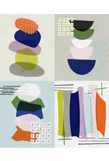 "Paintbrush Studio Road Trip, Four Up Panel, 36"" x 44"" Fabric Panel"