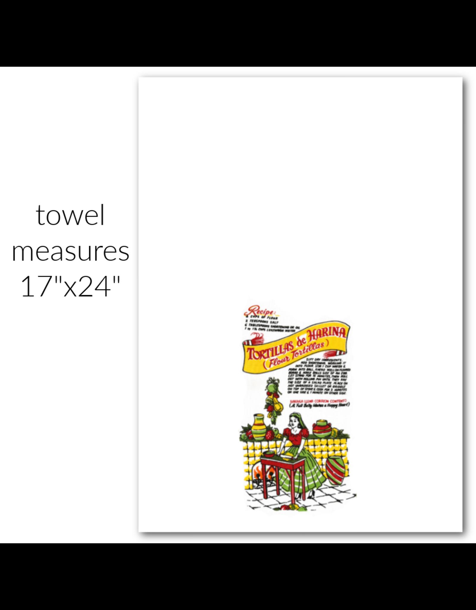 """Red & White Kitchen Co. Tortilla Flour Sack Towel 22"""" x 22"""""""