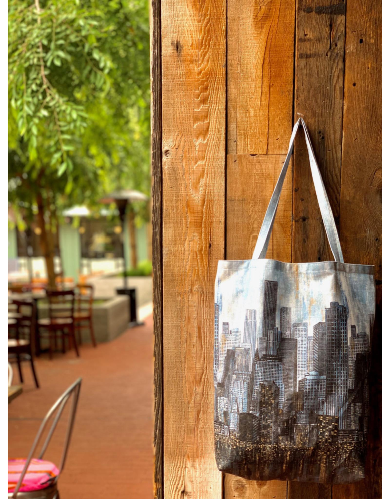 "Northcott City Lights, Tote Bag Panel, 24"" x 44"" on Cotton Canvas"