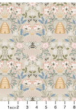 PD's Lewis & Irene Collection Queen Bee, Bee Hive on Dark Cream, Dinner Napkin