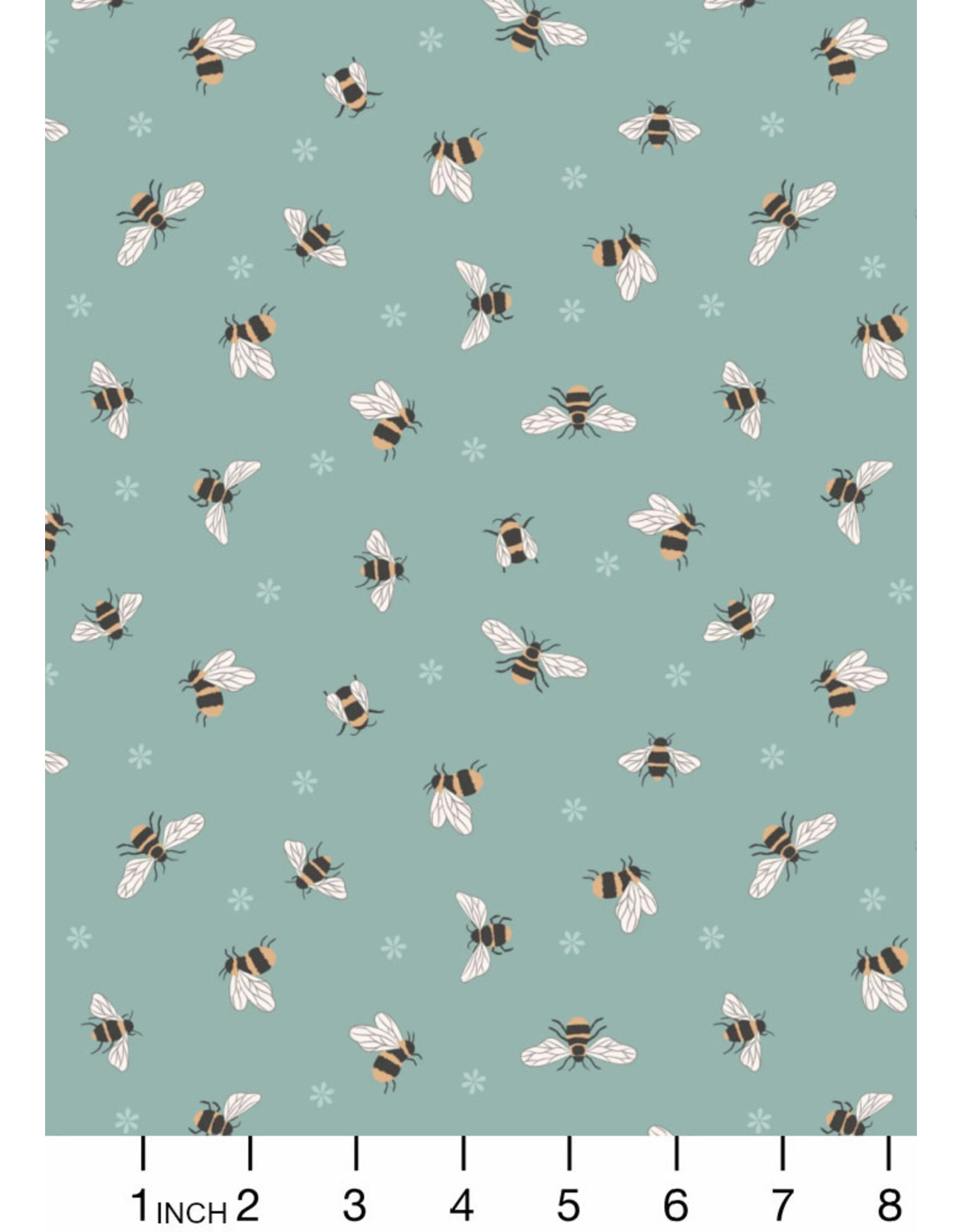 PD's Lewis & Irene Collection Queen Bee, Bees on Duck Egg, Dinner Napkin