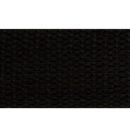 """United Notions Black Cotton Webbing Strapping 1"""" wide, by the yard"""