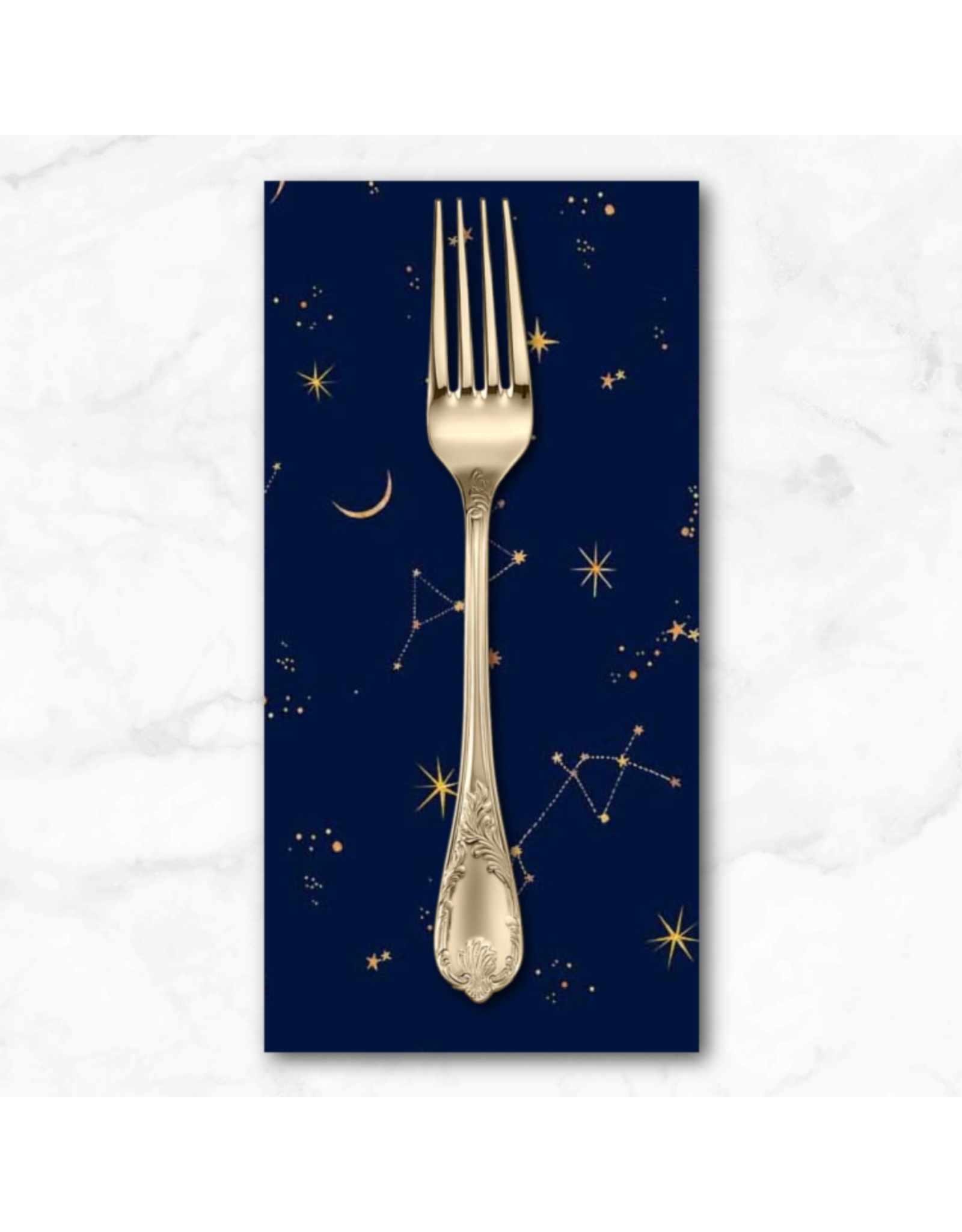 PD's Michael Miller Collection Mystical Meadow, Moonlit in Mellow Ink, Dinner Napkin