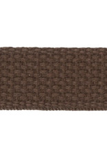 """Checker Brown Cotton Webbing Strapping 1"""" wide, by the yard"""