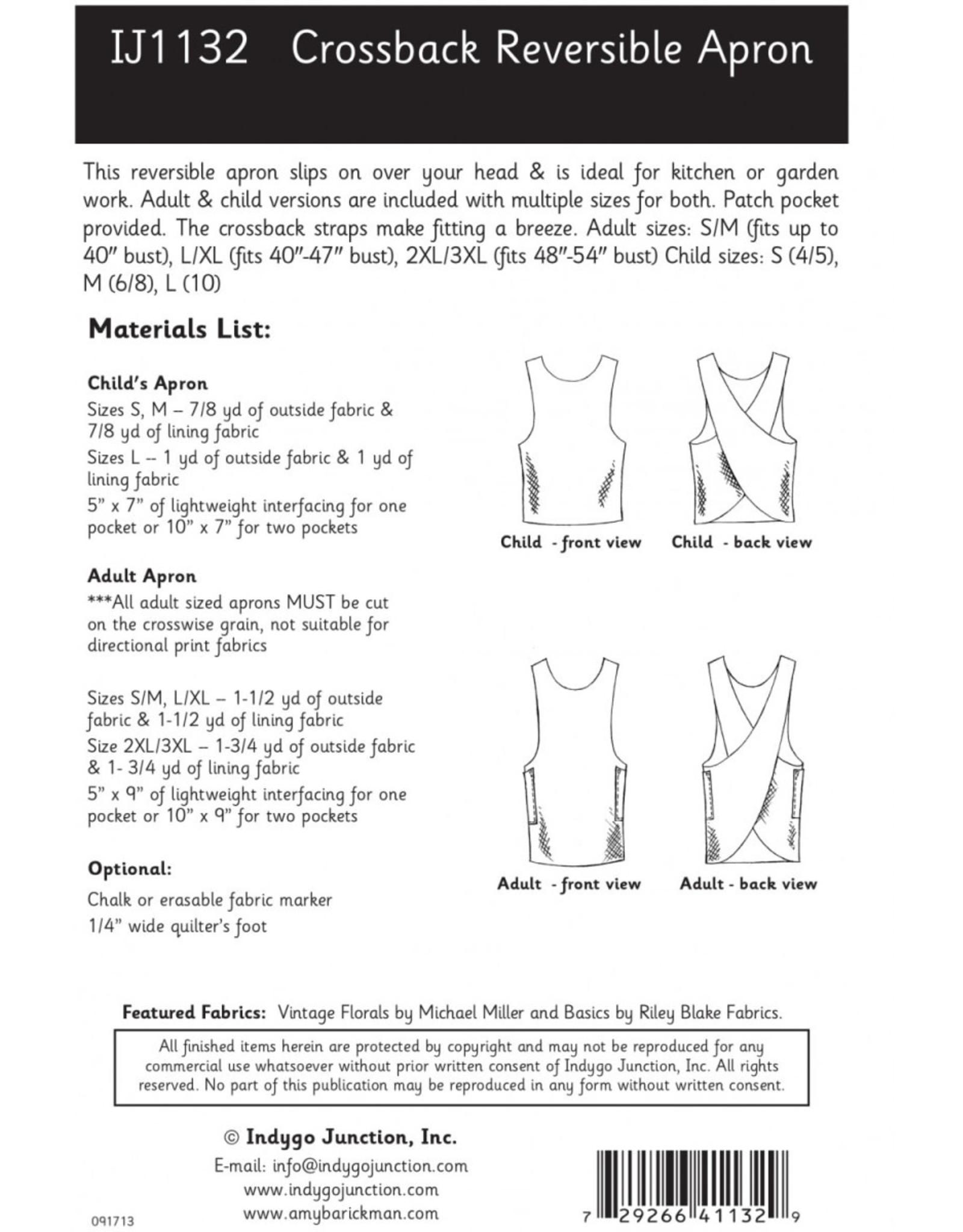 Indygo Junction Crossback Reversible Apron Pattern