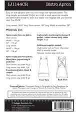 Indygo Junction Bistro Apron Pattern