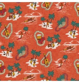 Sevenberry Island Paradise, Island Life in Pimento, Fabric Half-Yards