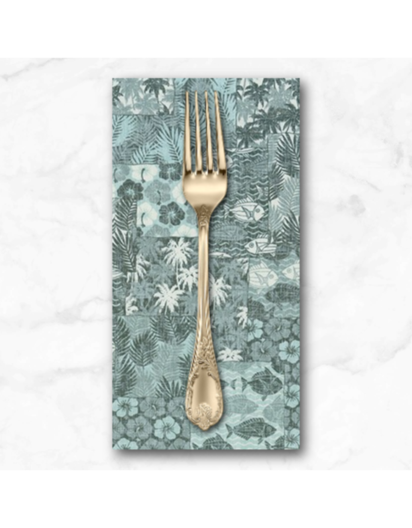 PD's Sevenberry Collection Island Paradise, Fish in Sage, Dinner Napkin