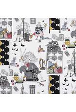 Alexander Henry Fabrics The Ghastlies, A Ghastlie Craft  in Natural, Fabric Half-Yards