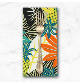 PD's Sevenberry Collection Island Paradise, Pineapples in Khaki, Dinner Napkin