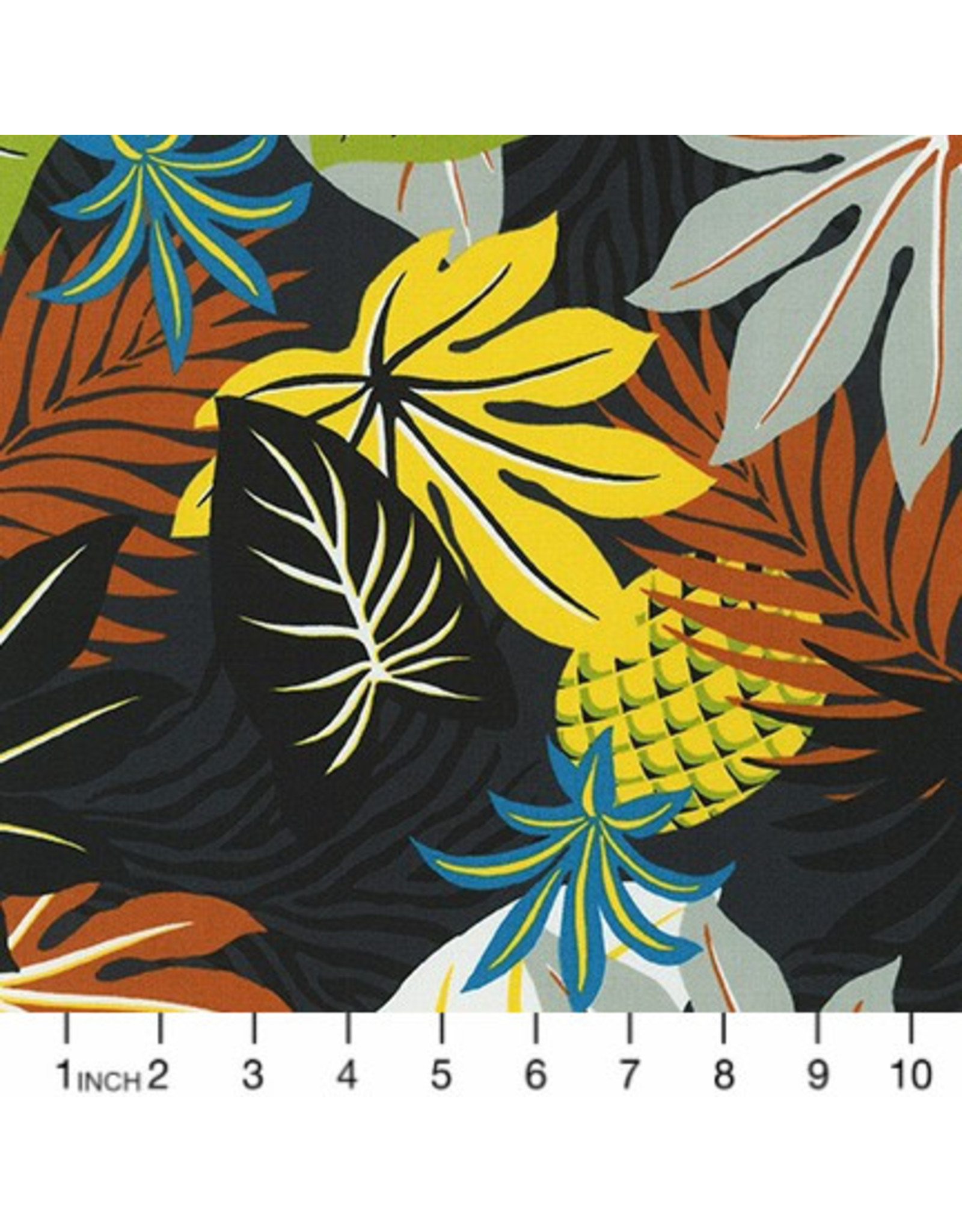 PD's Sevenberry Collection Island Paradise, Pineapples in Black, Dinner Napkin