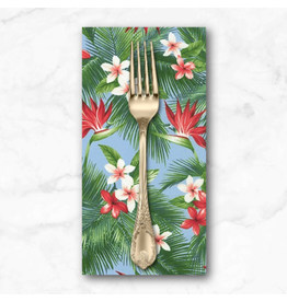 PD's Sevenberry Collection Island Paradise, Bird of Paradise in Blue, Dinner Napkin