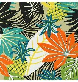 Sevenberry Island Paradise, Pineapples in Khaki, Fabric Half-Yards