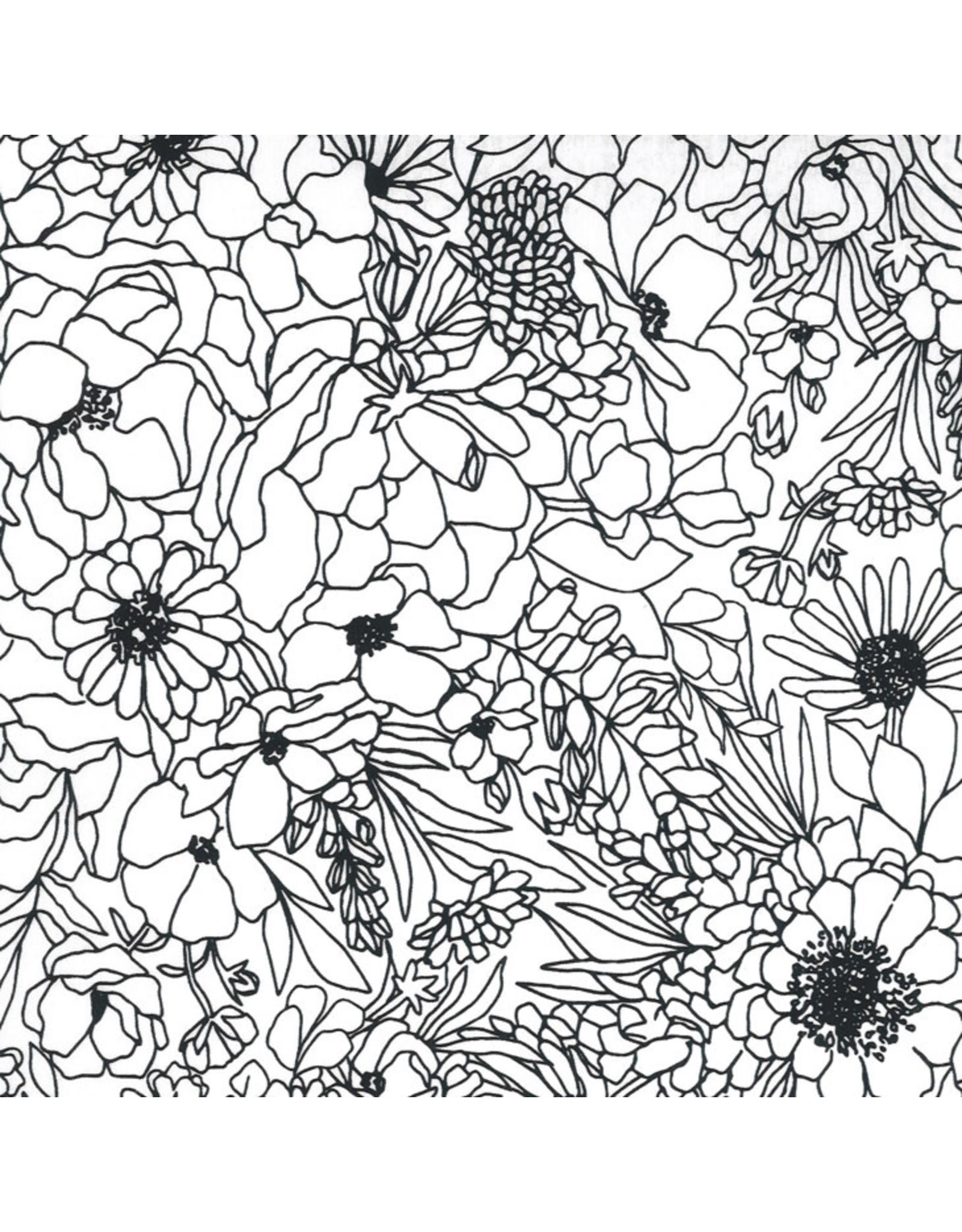 Moda Illustrations, Modern Florals in Paper, Fabric Half-Yards