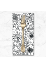 PD's Moda Collection Illustrations, Modern Florals in Paper, Dinner Napkin