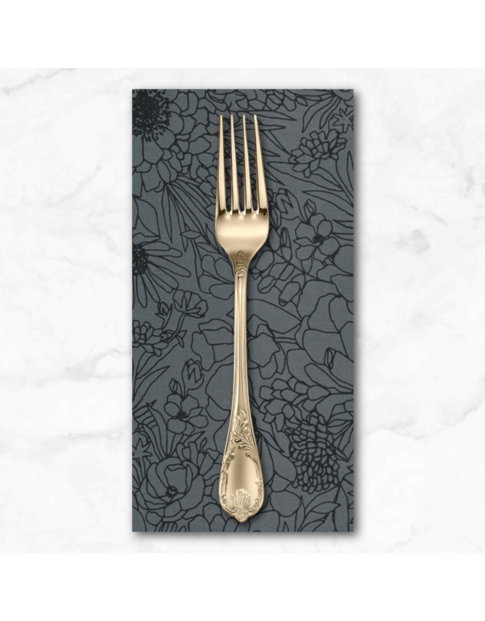 PD's Moda Collection Illustrations, Modern Florals in Graphite, Dinner Napkin