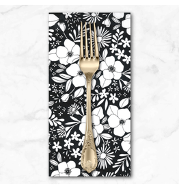 PD's Moda Collection Illustrations, Wild Florals in Ink, Dinner Napkin