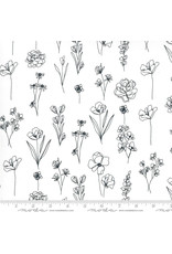 PD's Moda Collection Illustrations, Floral Doodle in Paper, Dinner Napkin