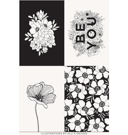 "Moda Illustrations, Cotton Canvas Panel, 36"" x 58"" Fabric Panel"